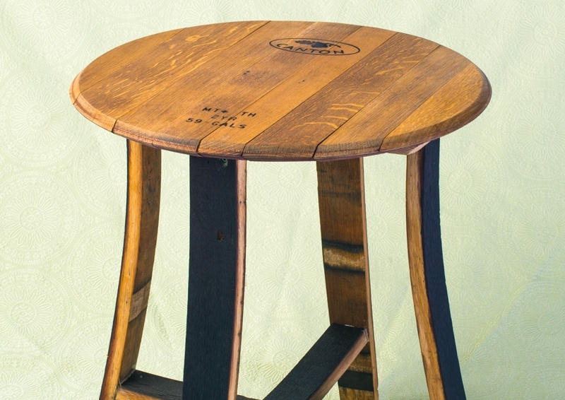 BARREL & STAVE END TABLE