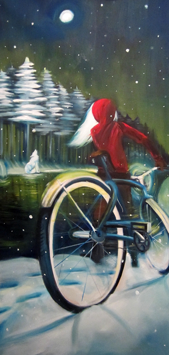 """Snow Ghost"" oil on canvas, 24x48 2012 - $860.00"