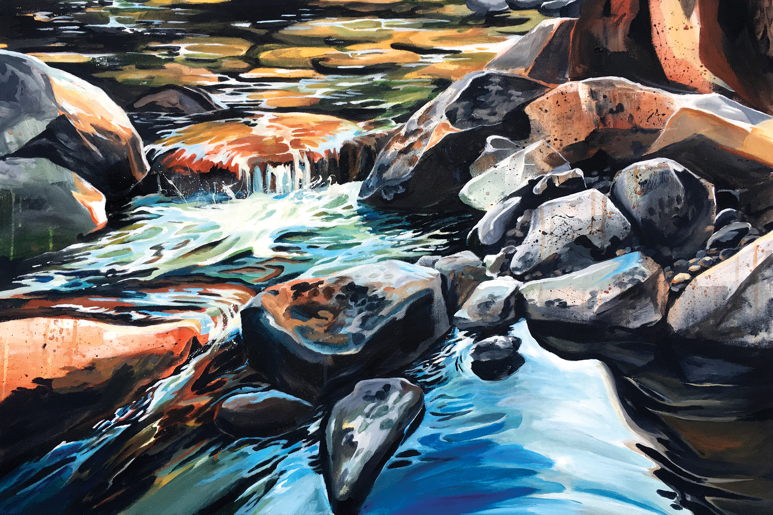 The Color of Water, acrylic on canvas, 36x24, 2018