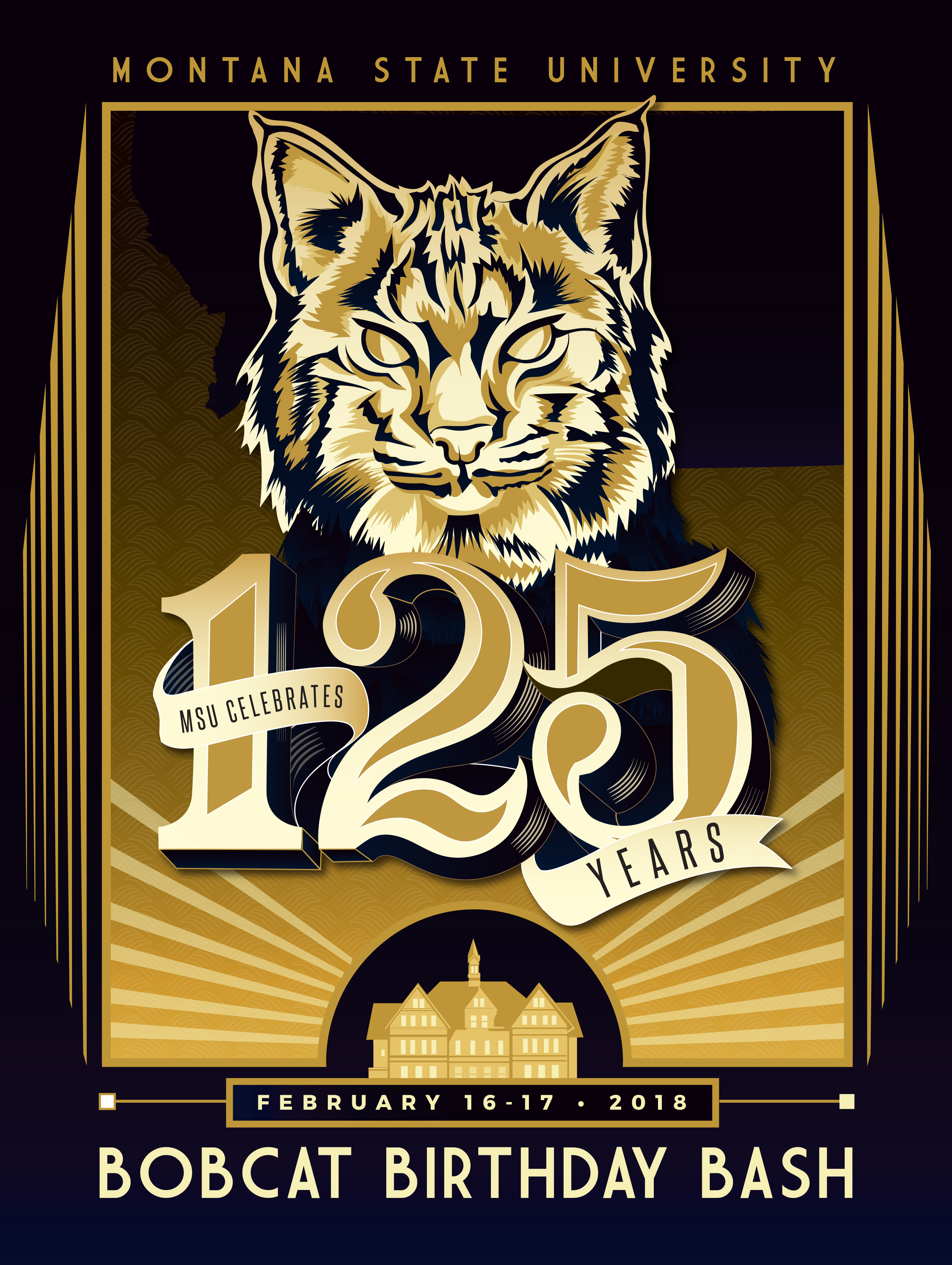 125th anniversary poster, Montana State University