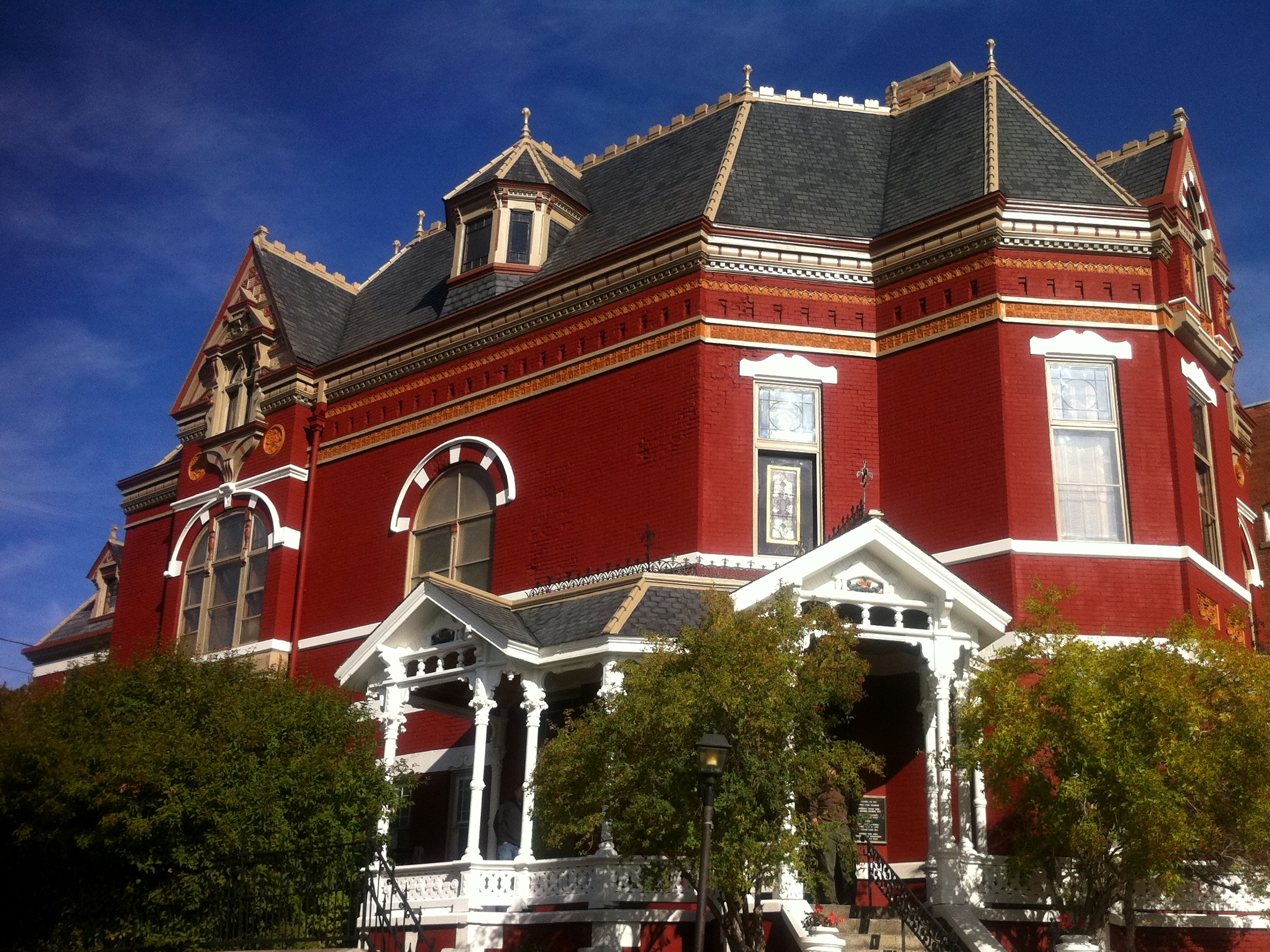 The Copper King Mansion, the W.A. Clark home at 219 W. Granite St., Butte, Montana. Built 1884-1888. Daily tours are offered, and one can book a room in the bed and breakfast athttp://www.copperkingmansion.com/.c. Bill Dedman