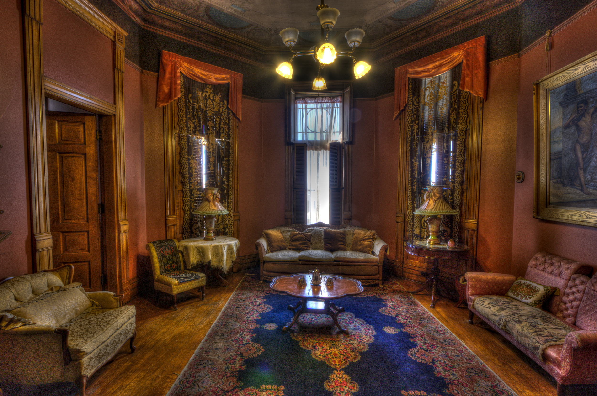 Sitting room, master bedroom suite, Copper King Mansion, the W.A. Clark home in Butte, Montana. c. Daniel Hagerman. Prints for sale at http://fineartamerica.com/art/all/copper+king+mansion/all.