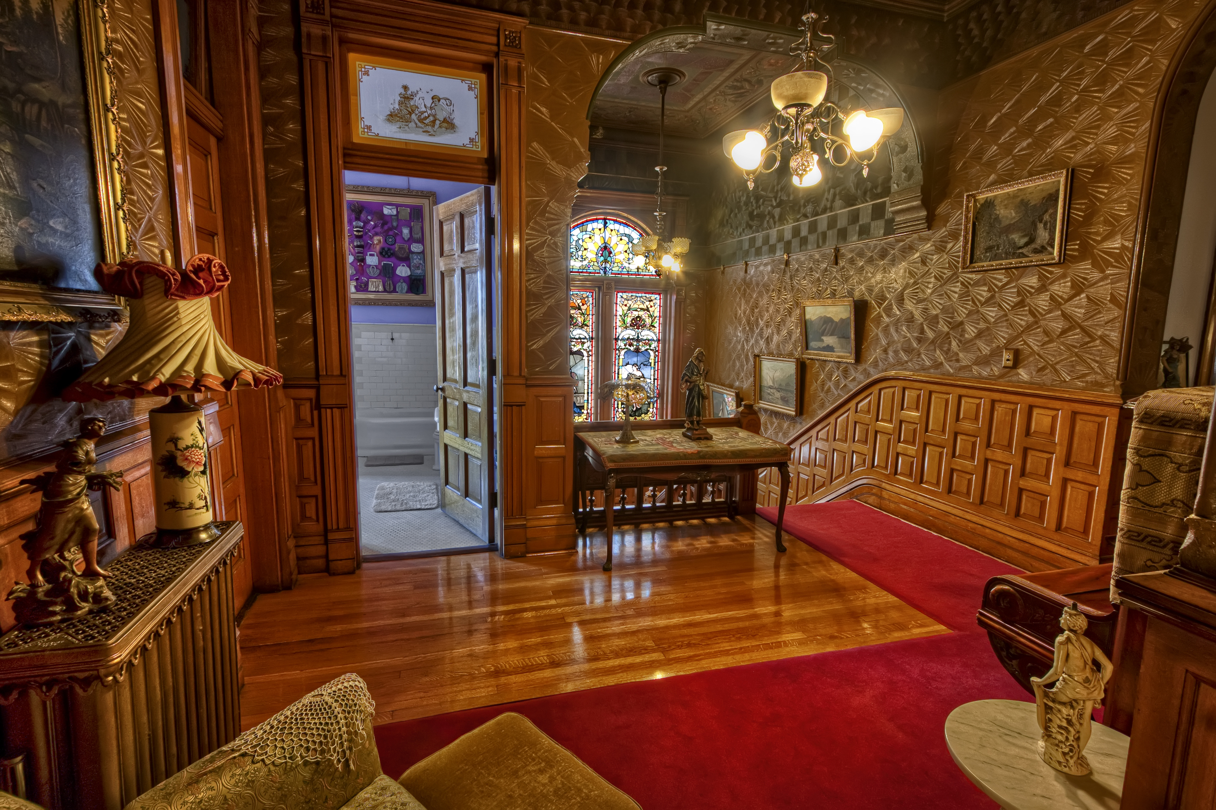 Top of grand staircase, Copper King Mansion, the W.A. Clark home in Butte, Montana. c. Daniel Hagerman. Prints for sale at http://fineartamerica.com/art/all/copper+king+mansion/all.