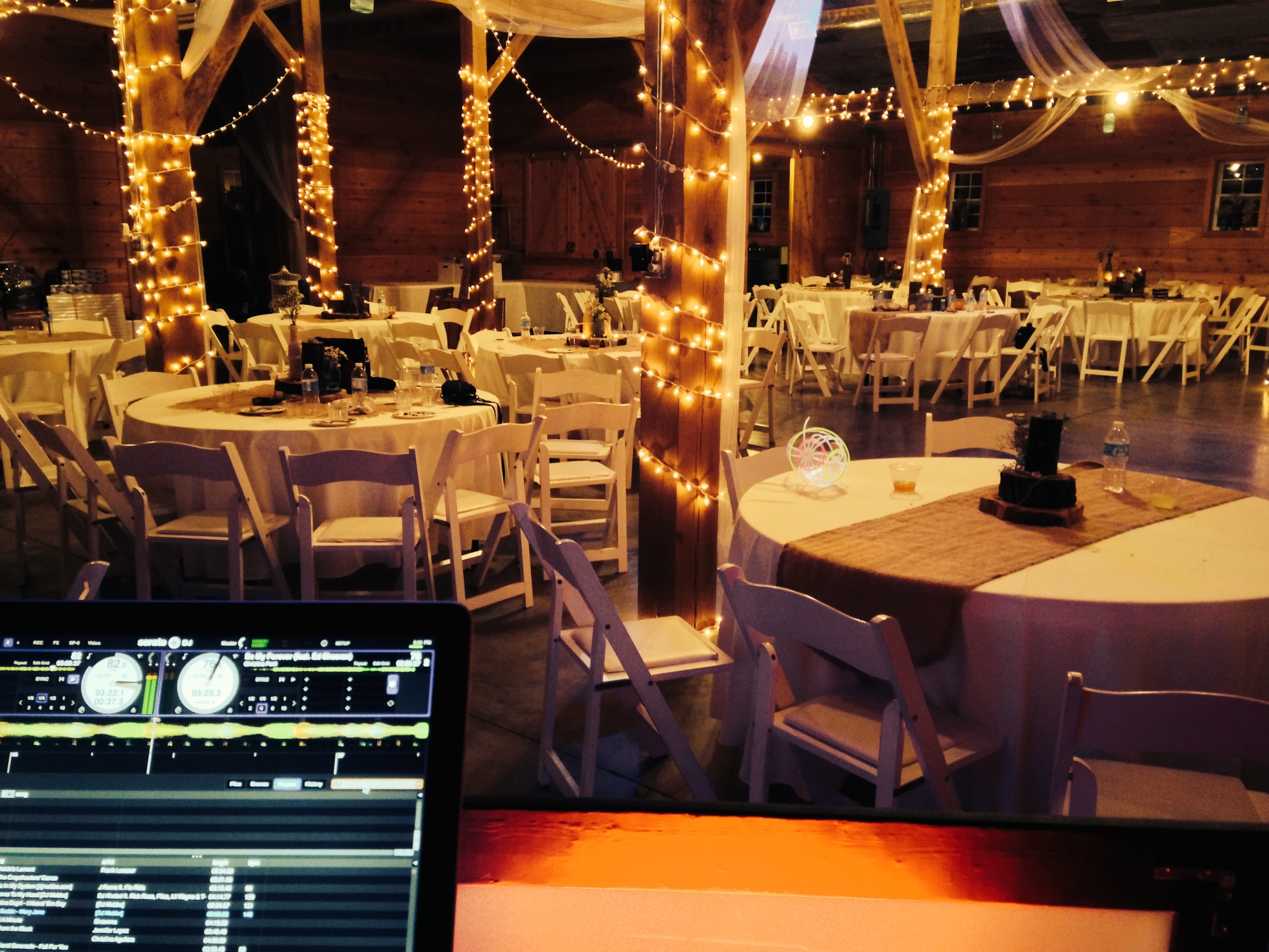 DJ Services at a wedding at the Barn in Pleasant Hope MO!