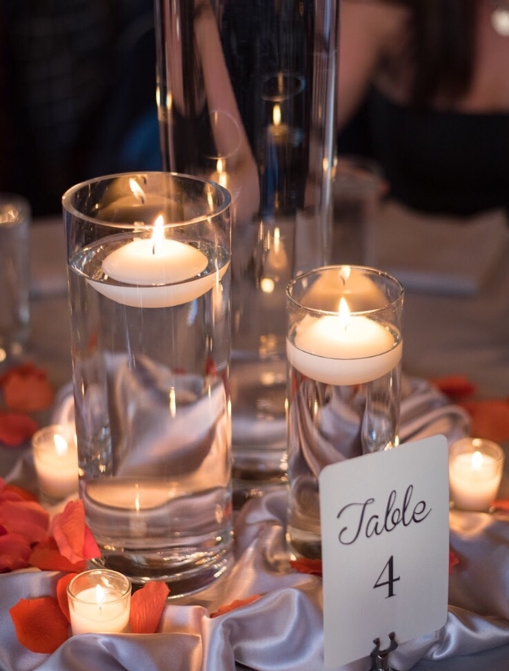 Candles are not just romantic, but will also set the vibes for fall  Photo credit:  Spark Events