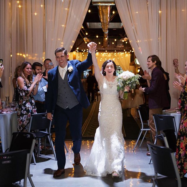 An entrance like no other. 💃🕺 Photo cred: @turnercreative #bridalparty #weddingintroductions #midwestweddings