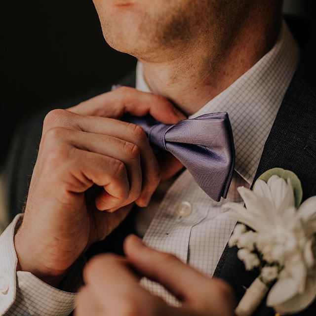 Just a touch of class. 🕺 #bowtie #groom #ozarkwedding