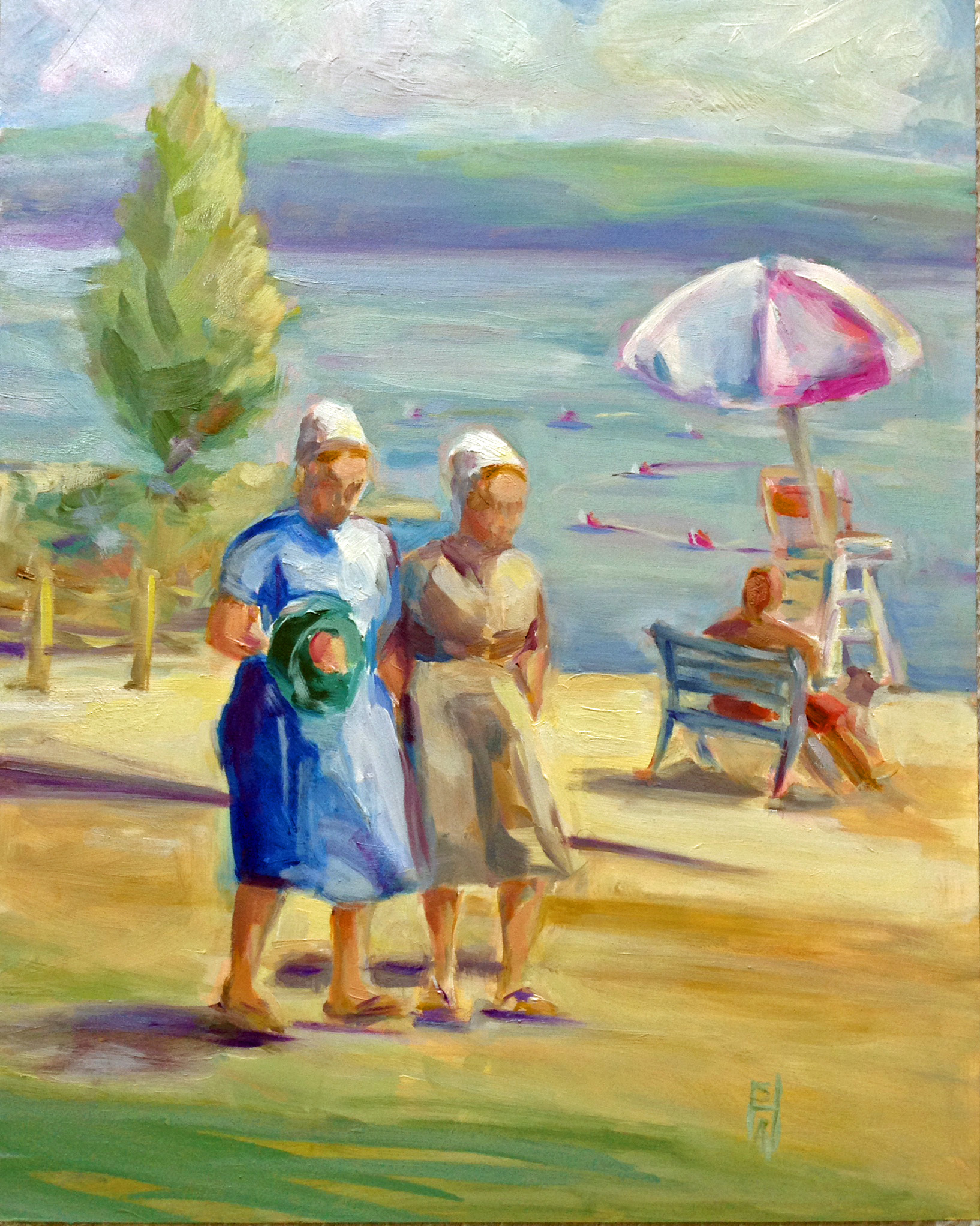 Lunchbreak on Children's Beach  oil on board, 11x14. Private collection