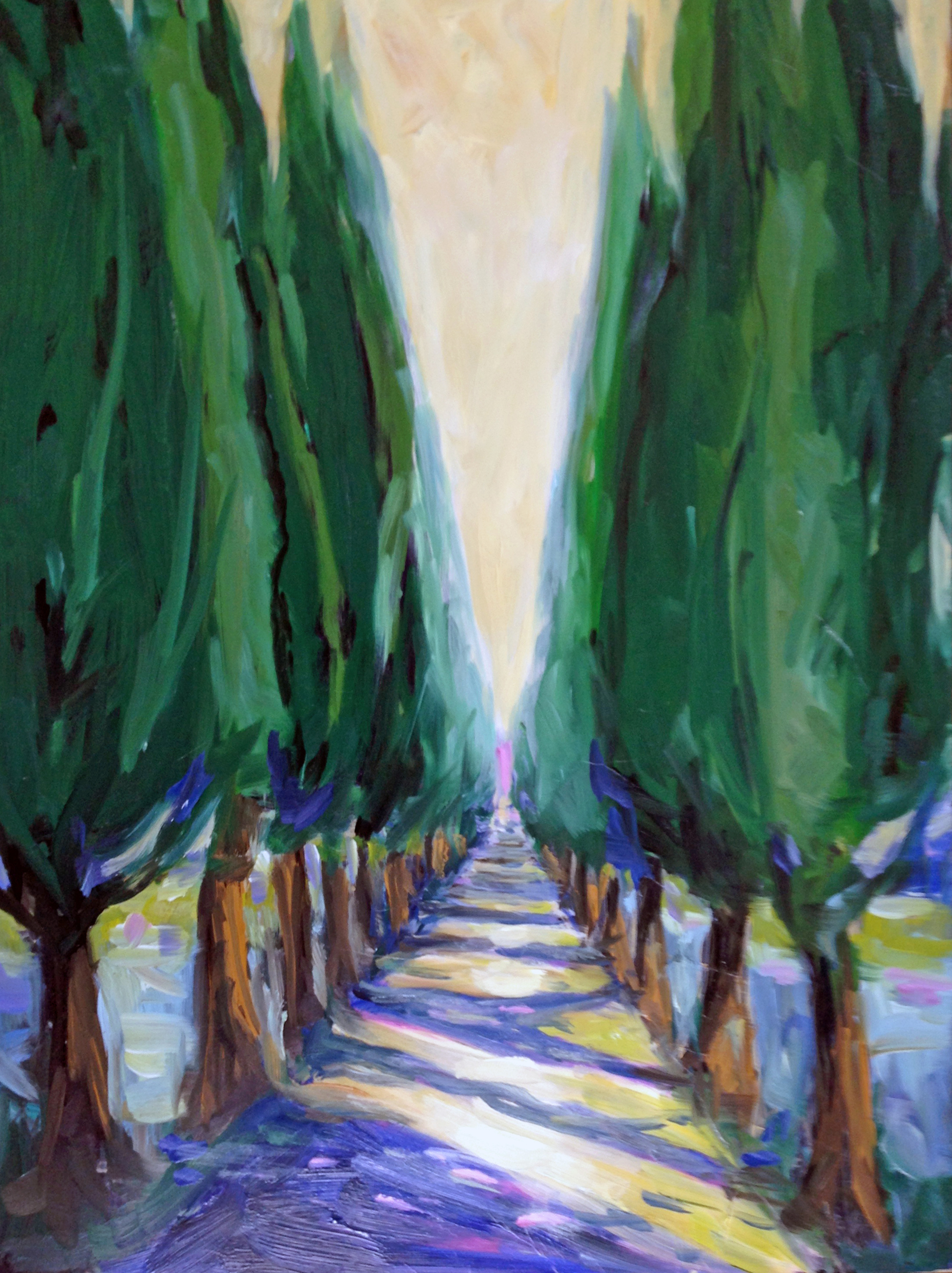 A Walk in Tuscany  oil on gesso board, 12 x16. Available