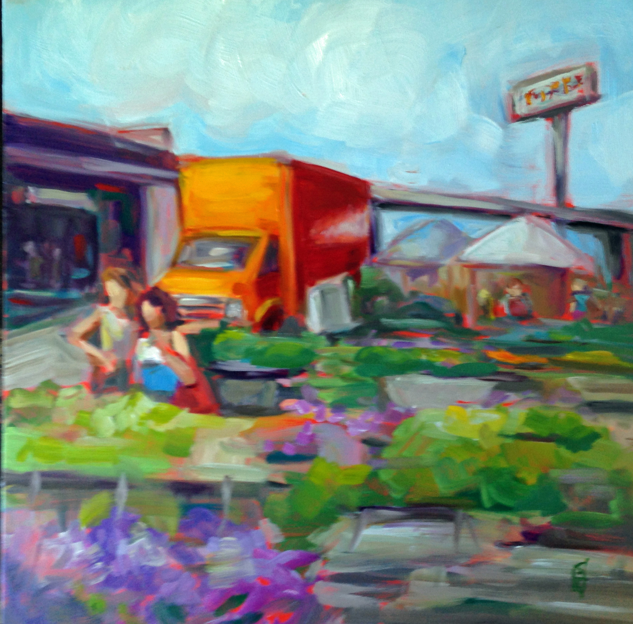 The Regional Market  oil on board, 12 x12. Available