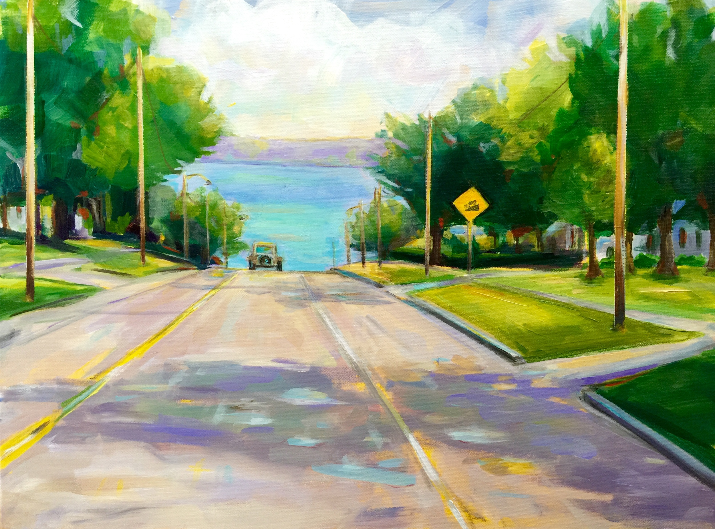 The View from 99 S. Erie  Acrylic on canvas, 18 x24. Private collection