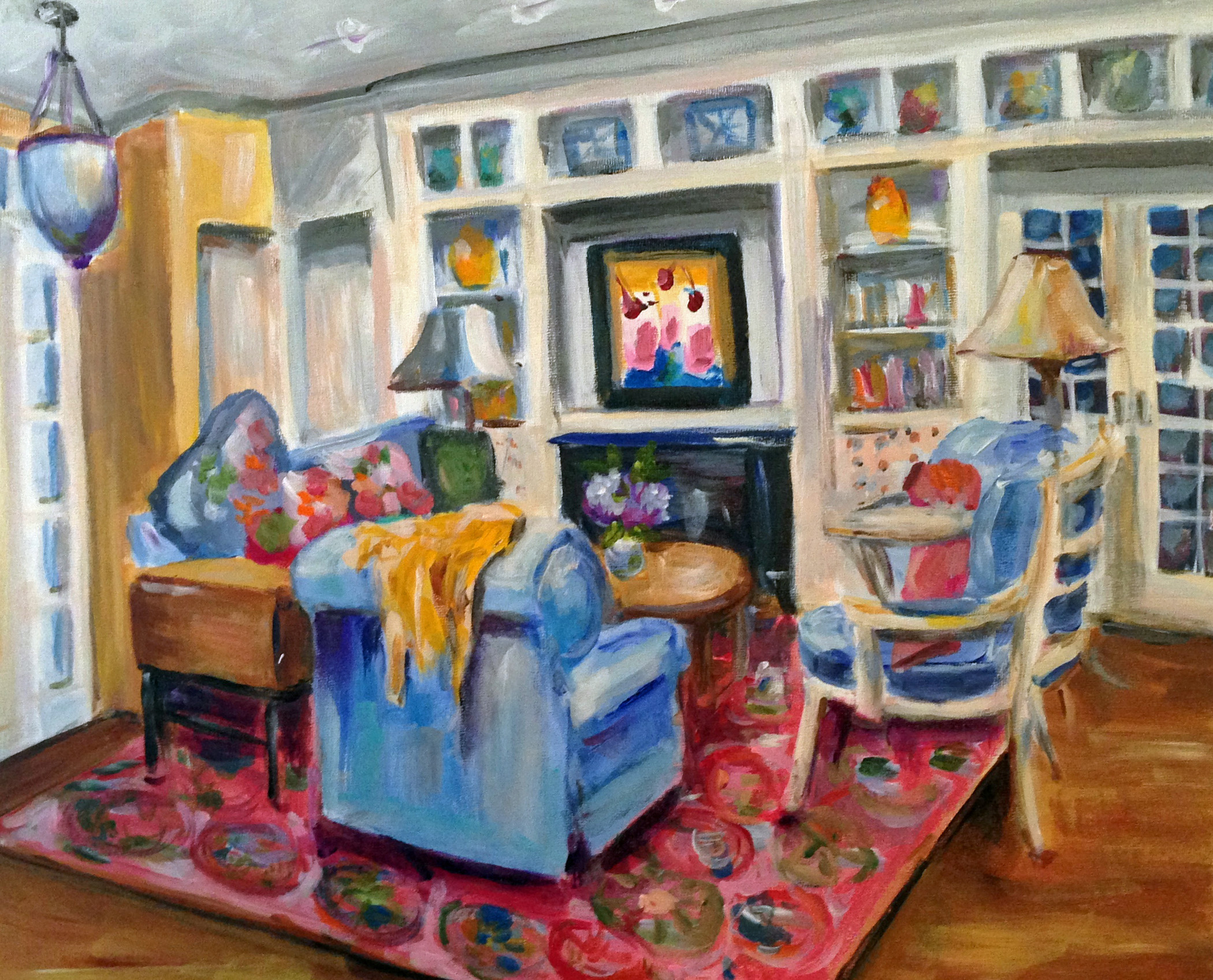 The Cottage  Acrylic on board, 16x20. Private collection