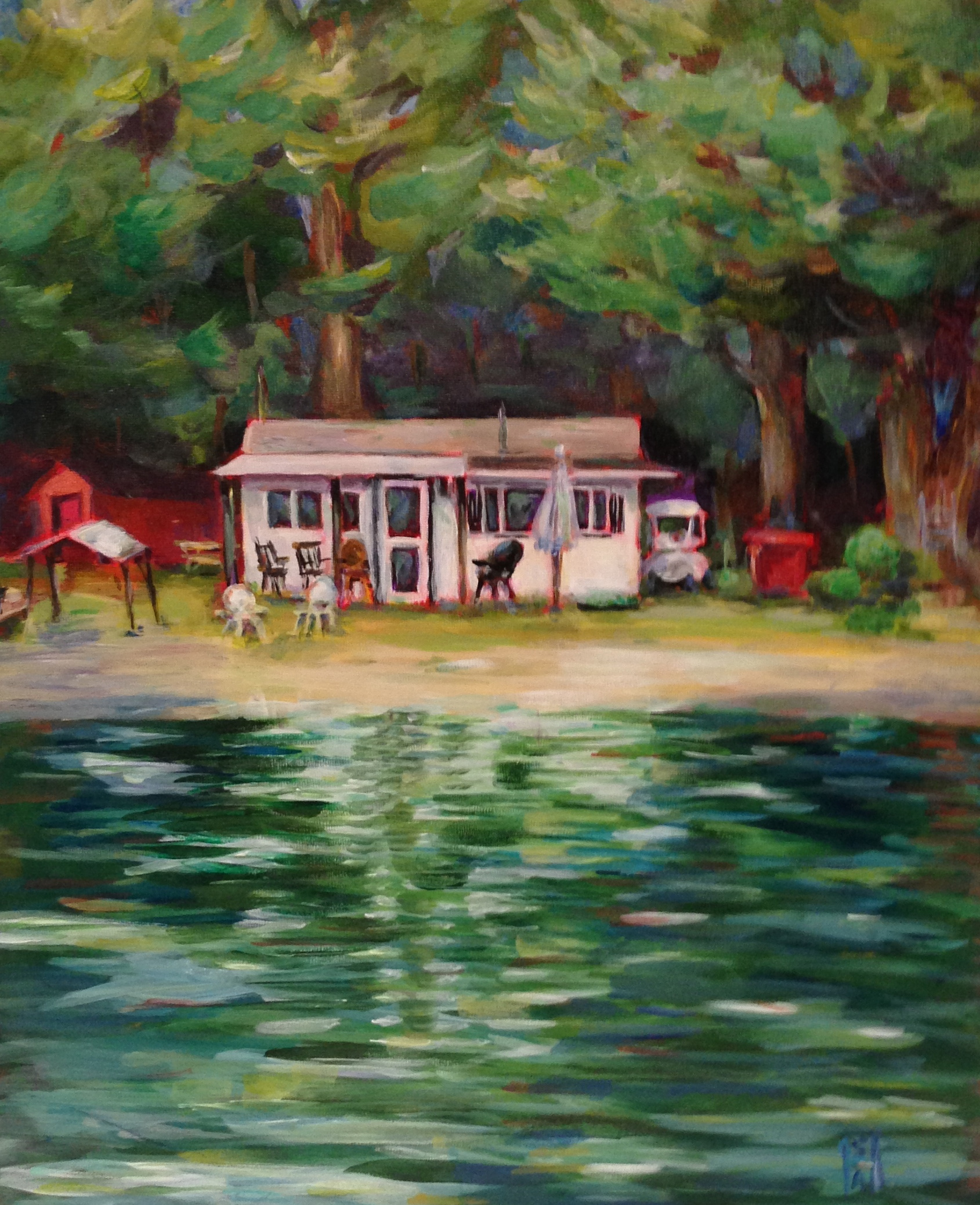 Lake Memories  Acrylic on Board, 18x24. Private collection