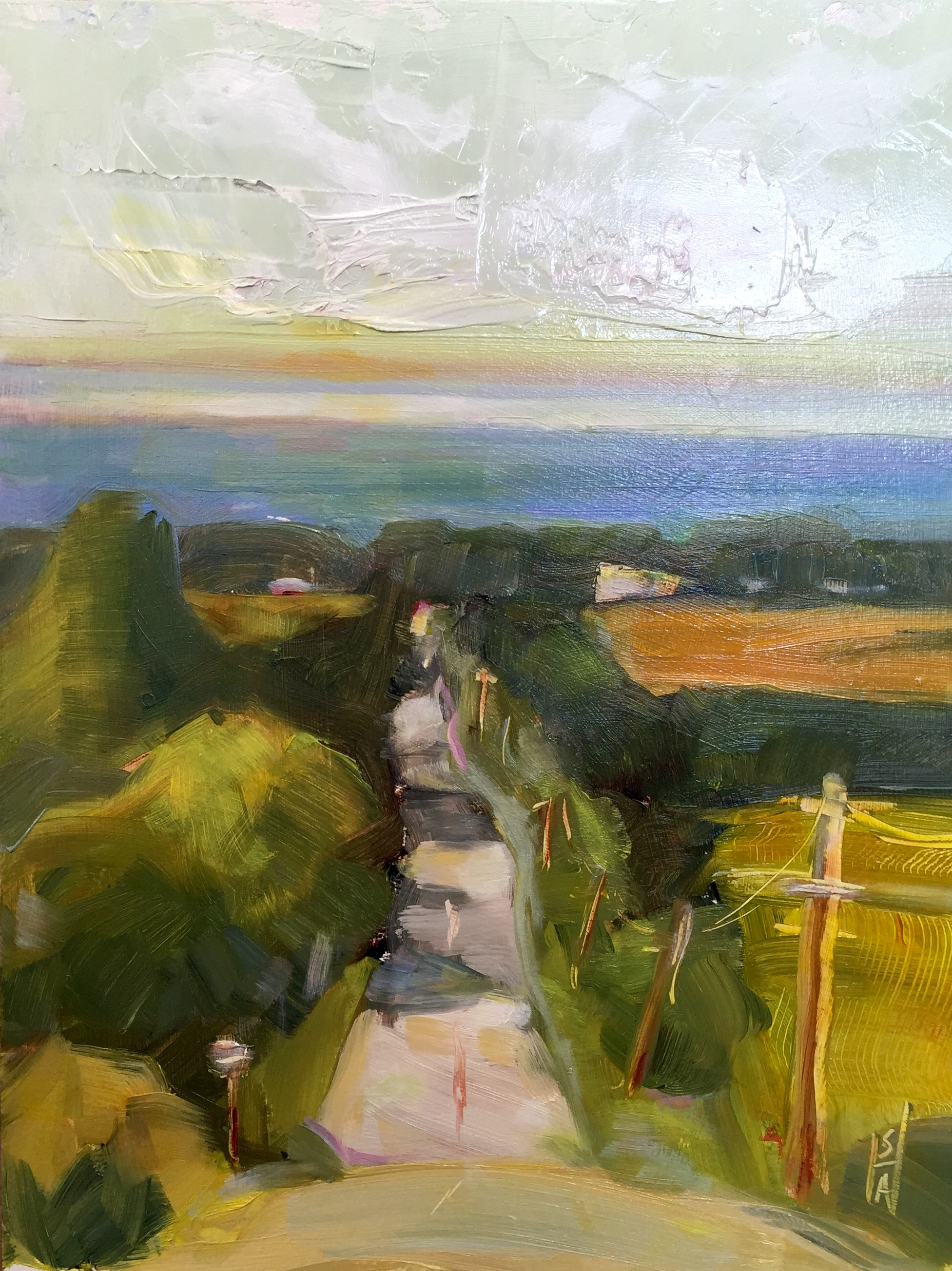 Top of the World  oil on board, 9x12, plein air. Available