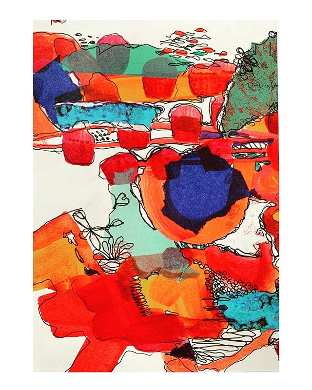 One of the many smaller paper pieces I've been working on recently for the Cazenovia Art Trail. Coming up this weekend! #worksonpaper #collage#markmaking #micron#drawing#mixedmedia #mixedmediaart #layers#vivid #vividcolor#lovered#openstudios #artstudio#studiovisit#fallweekend#cazarttrail #cazenovialake #cazenovianewyork #buylocal#affordableart#funfallweekend