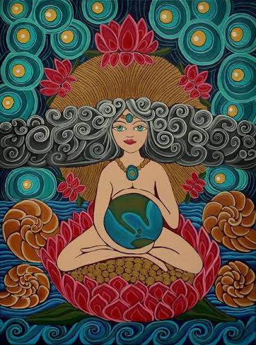 The Whole World in Her Hand  Acrylic on Canvas  20''x 24''