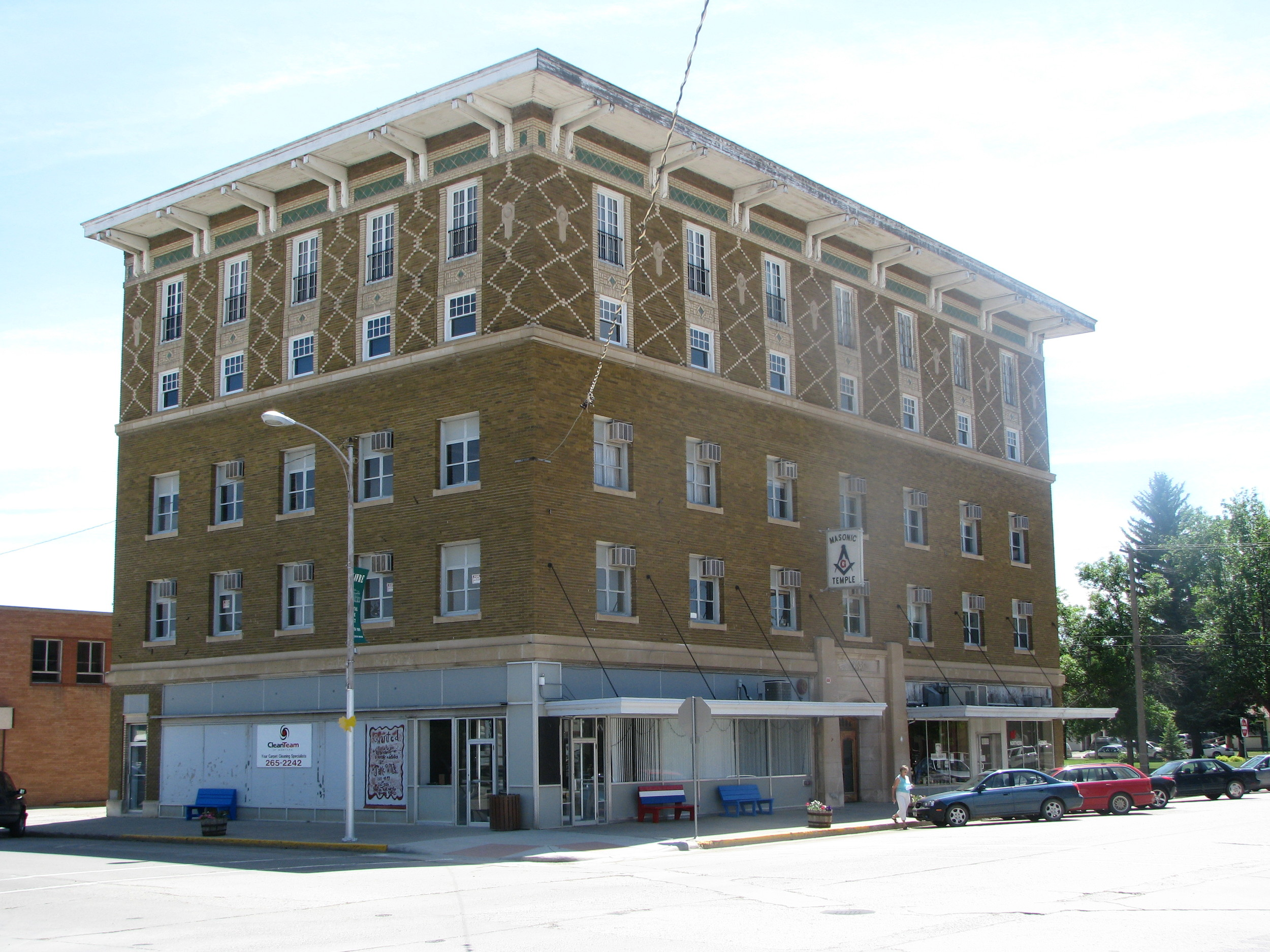 The Havre Masonic Temple is in very good hands today with preservationists Mark Whitacre and Erica Farmer of Havre. They plan to rehabilitate the building for retail, office, and meeting space.