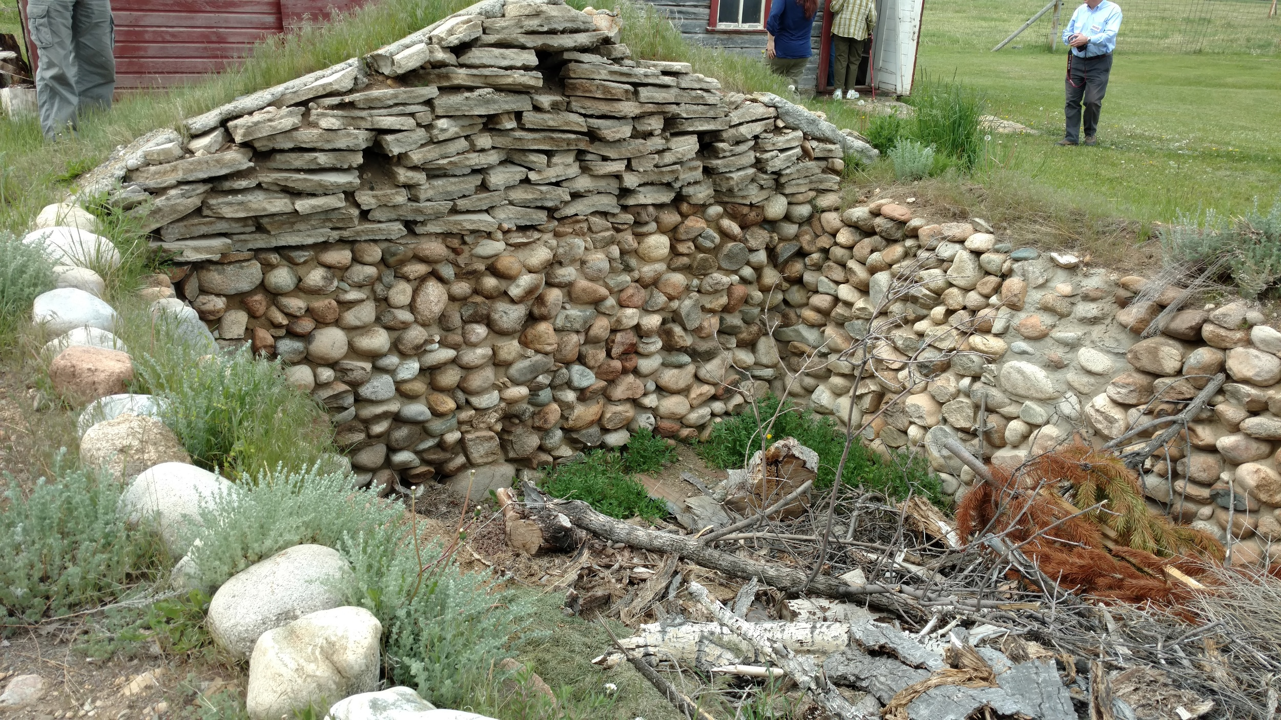 The Kero root cellar lost its roof decades ago, but the sturdy stone walls are solid. The current owner hopes to reroof the cellar someday.