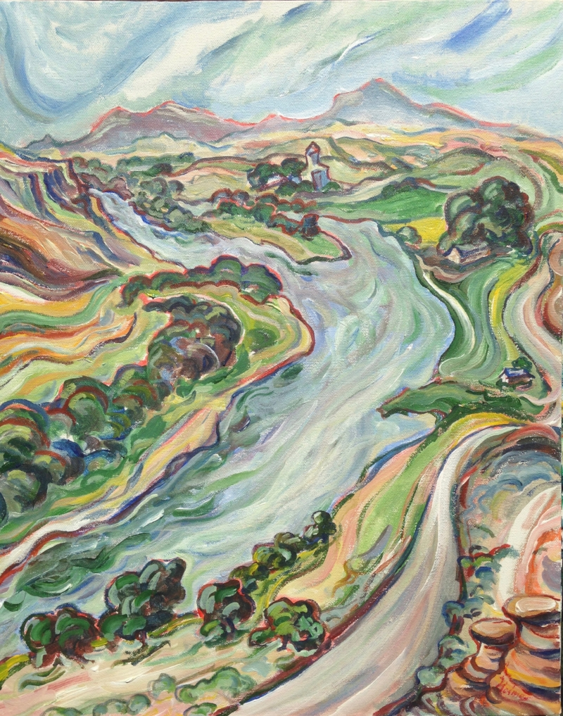 Coal Banks Bend, Tim Holmes, resident artist-at-large (painted all five locations).  www.timholmesstudio.com