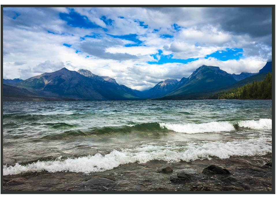 Lake McDonald, Incoming Waves