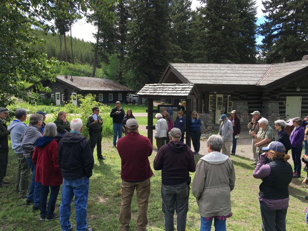 Arriving at Polebridge Ranger Station in Glacier National Park.