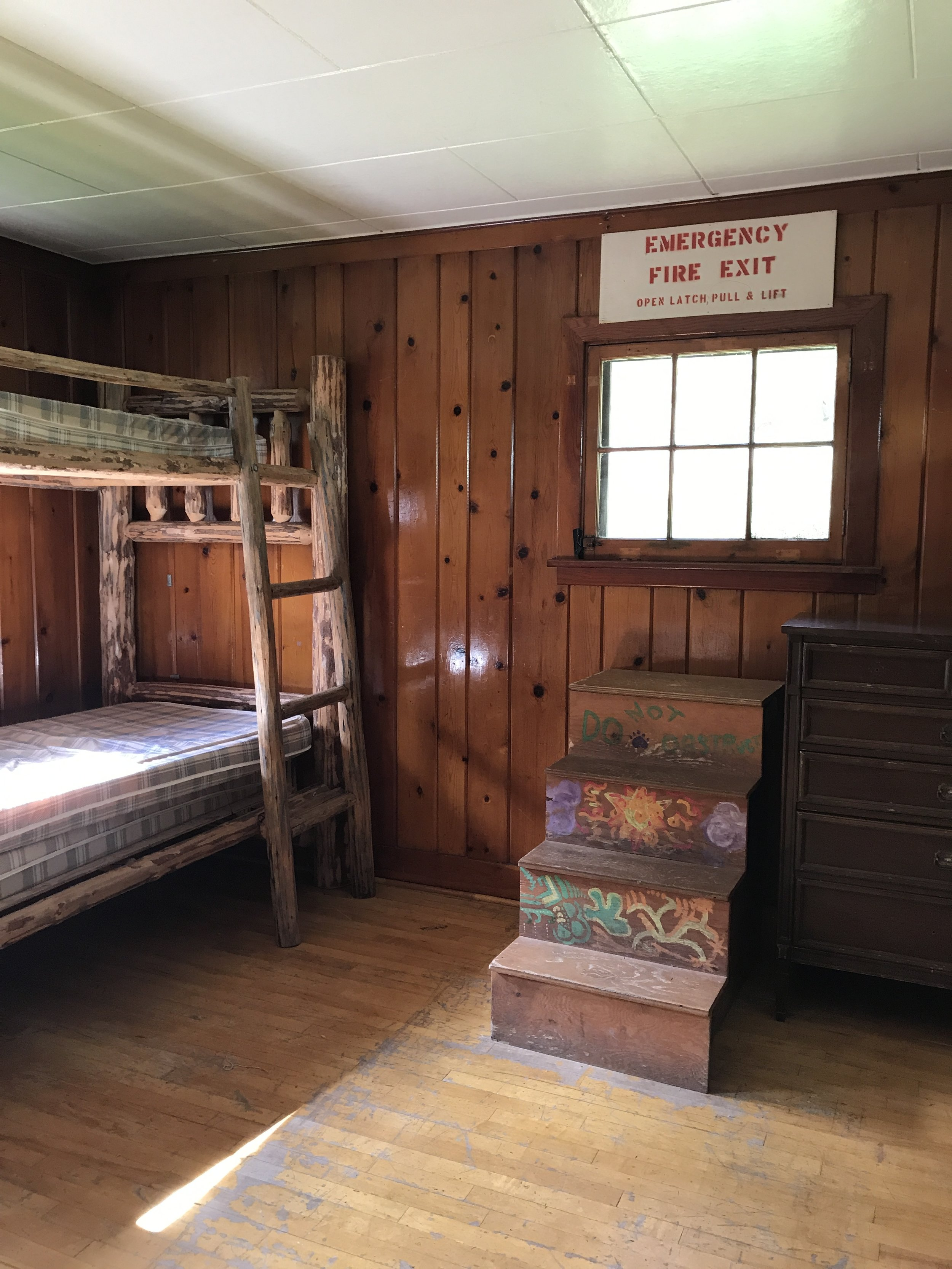 Inside one of the Big Creek bunkhouses.