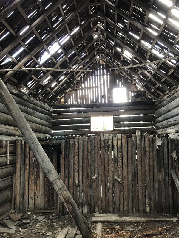 Inside the Brill barn.