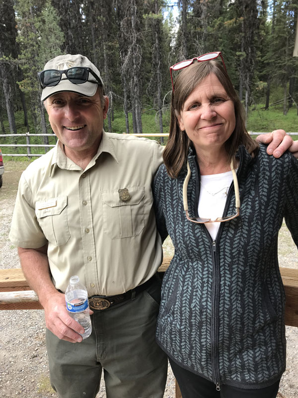 Flathead National Forest Staff Officer, Gary Danczyk and Chere Jiusto, MPA Executive Director.