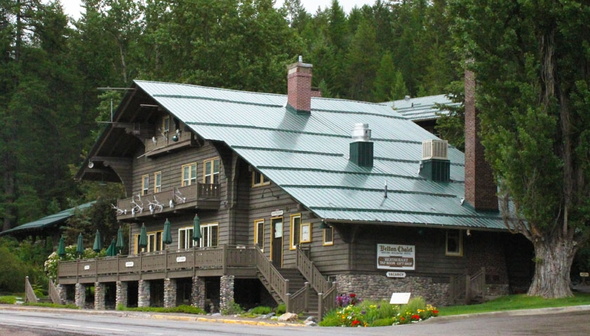 Just a quick walk across US Highway 2 from Belton Depot are the historic Belton Chalet, Belton Lodge, and Cottages. James J. Hill envisioned a Switzerland in America along his Great Northern Line and embarked on building a system of rustic Swiss-style hotels. The Chalet was built in 1910.