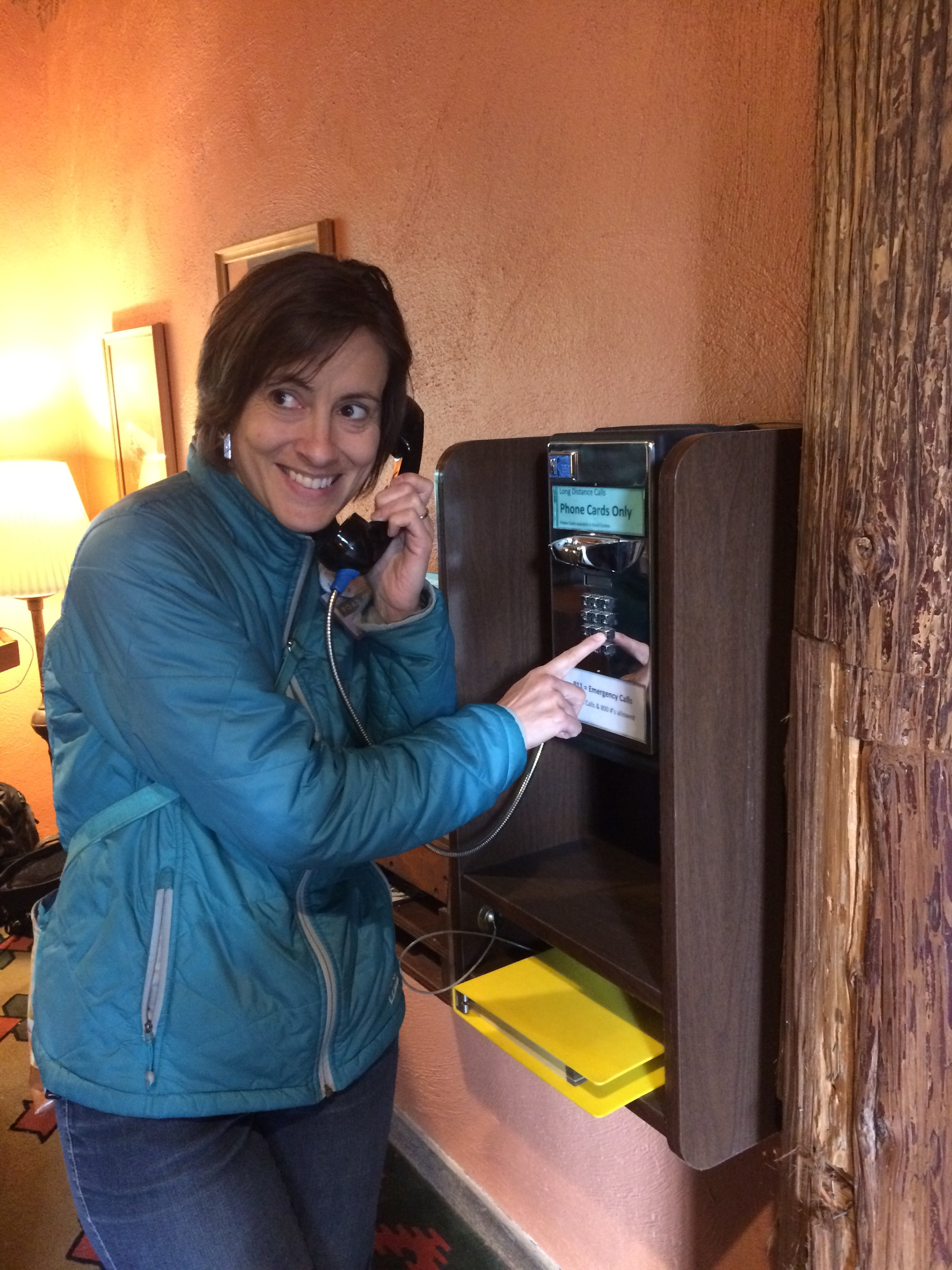 And yes, the hotel pay phone still works!
