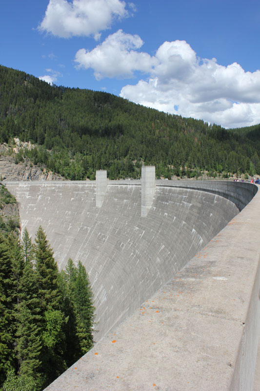 Visitors to the Dam can walk or drive right across the top of the dam wall and marvel at its sheer size.