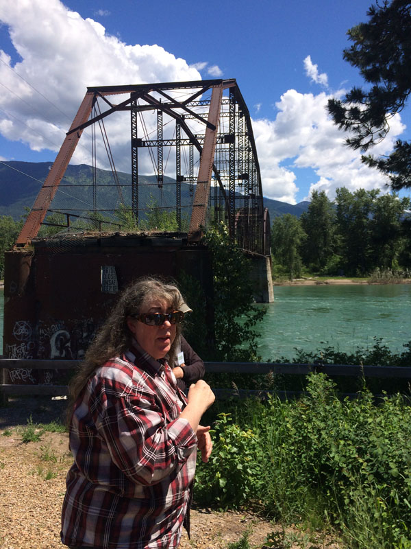 Local historian Johanna Hardesty talks about the history of the Red Bridge across the Flathead River. The bridge was built in 1912 just a few blocks east of James Talbot's sprawling mansion estate. The bridge survived a major flood in 1913 and again in 1964.