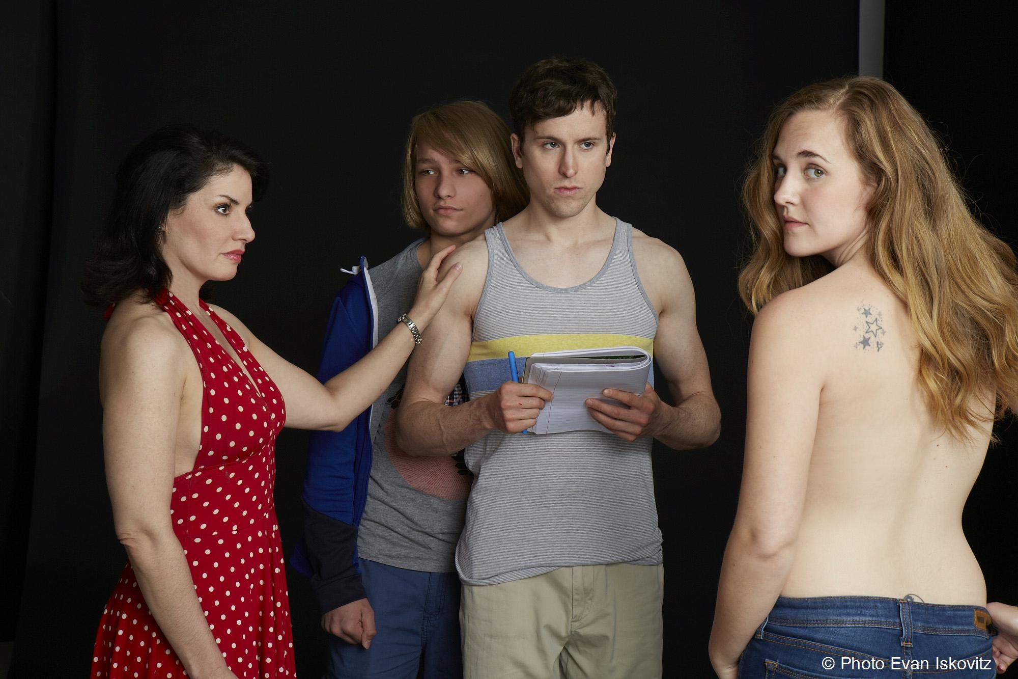 Cast of Lancelot from left: Romy Nordlinger, Grant Riordon, Stephen James Anthony, Lulu Fogarty