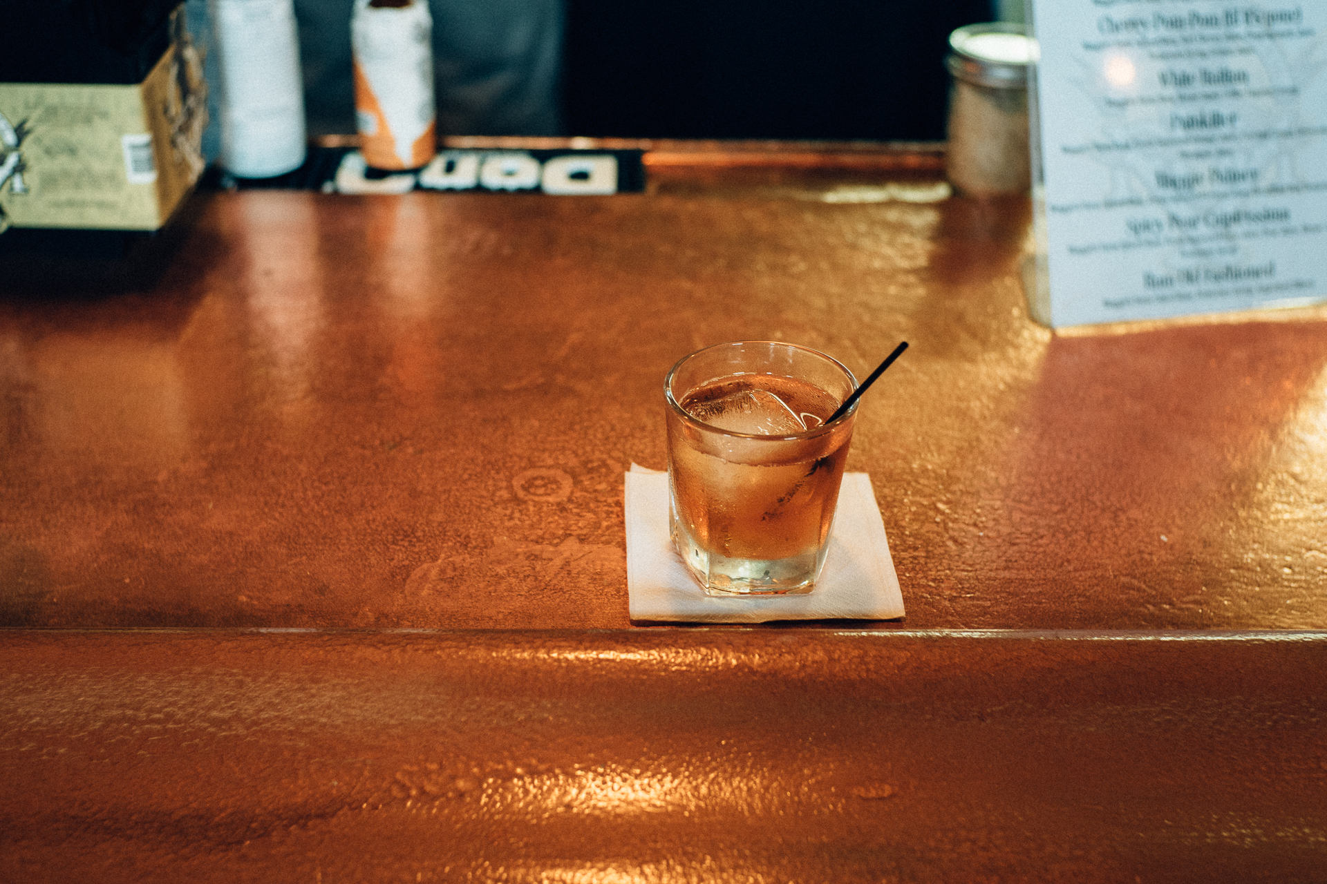 The Rum Old Fashioned (made with oaked rum...please start selling this in bottles!)