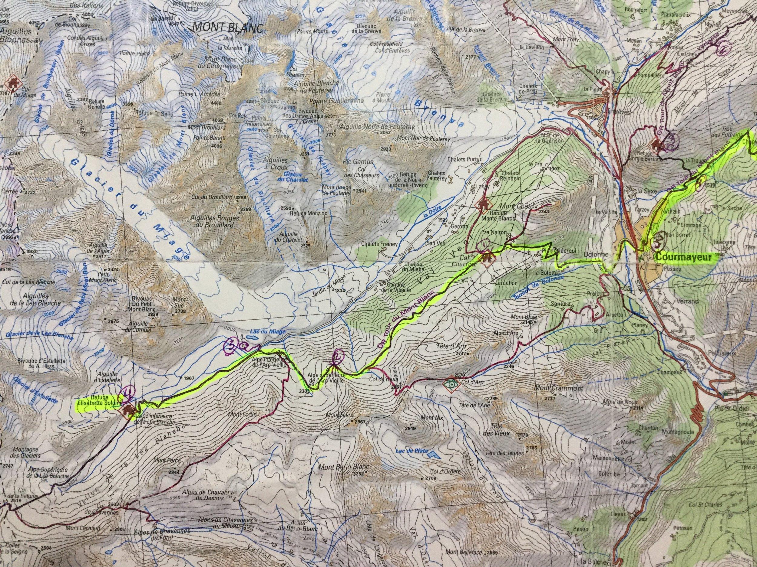 Day 4 Hike from Courmayeur to Refuge Elizabetta
