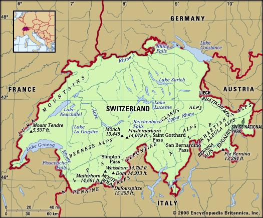 Engadin is in the south east corner right next to the Swiss National Park
