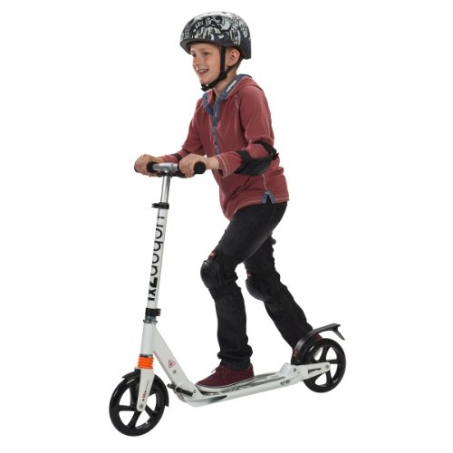 Kid on a kick scooter