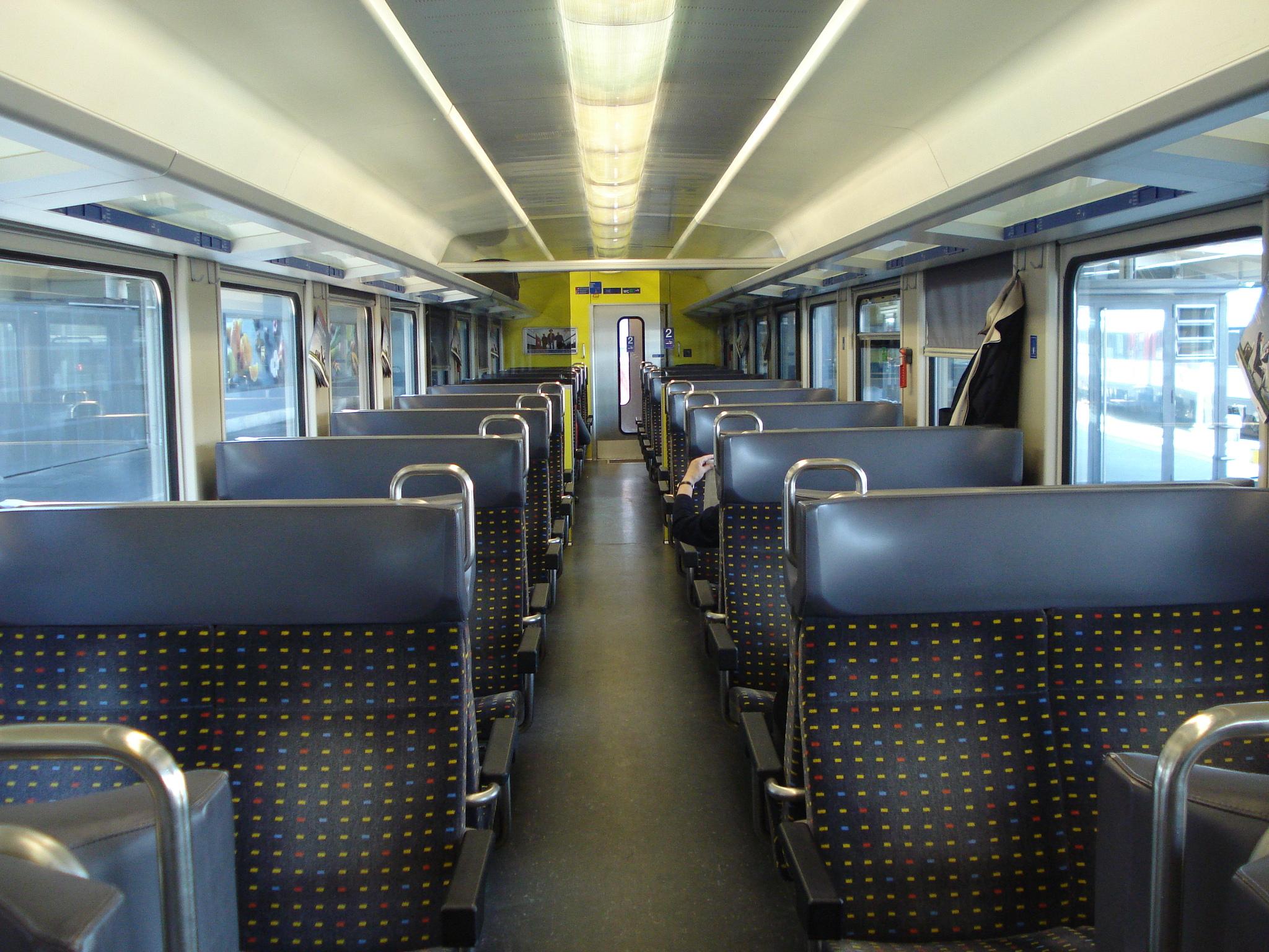 Interior of Swiss regional train