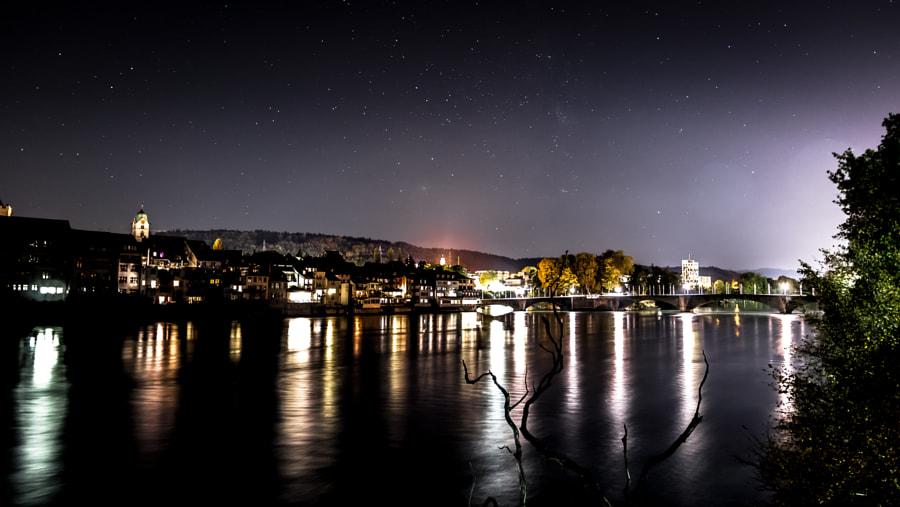 Old Rheinfelden at night