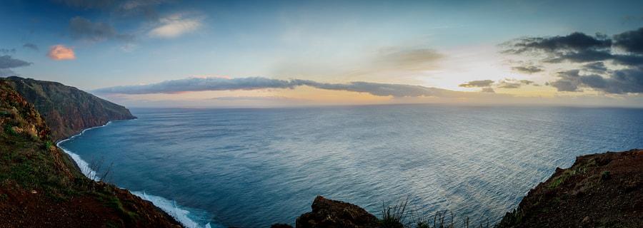 Sunset at the light house of Ponta do Pargo