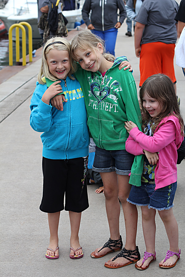 The girls made a few new friends amongst the other farm families. The Wisconsin Farmer's Union camp counselors provided activities for the kids while the adults were in training, and they had a great time.