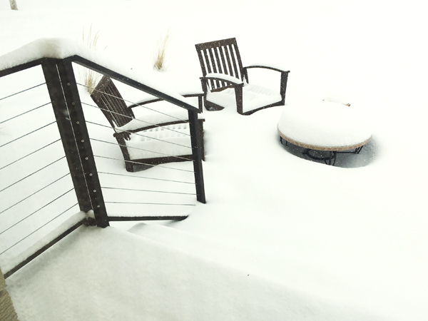In hindsight, maybe I should have put away my patio furniture for the winter?