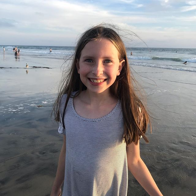 We just took Eva to the beach for her 9th birthday. No bigs. 💕Happy Birthday 🎂 to our Eva Grace!