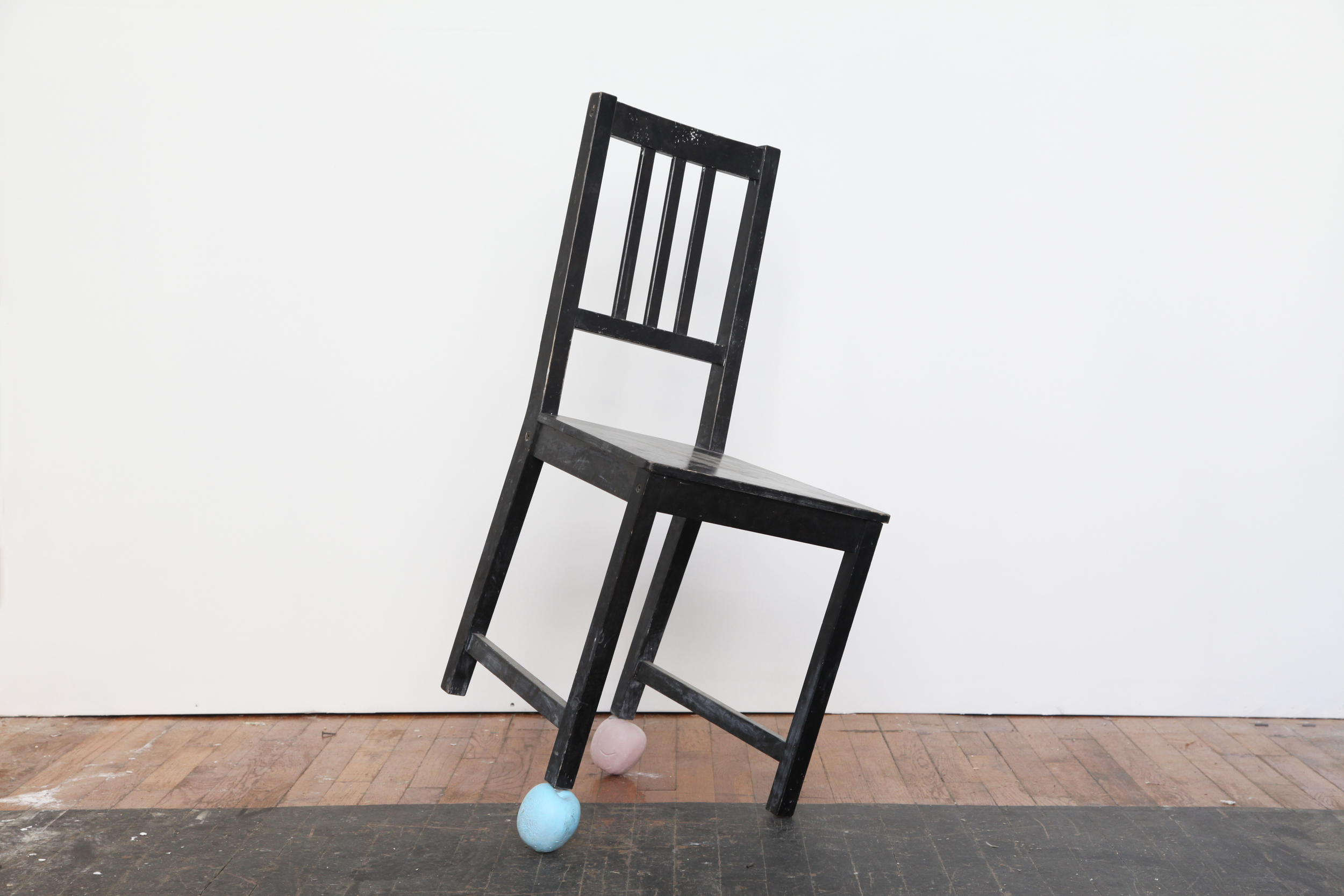 an other chair, 2012 ikea chair, plaster, 26 x 26 x 38 in