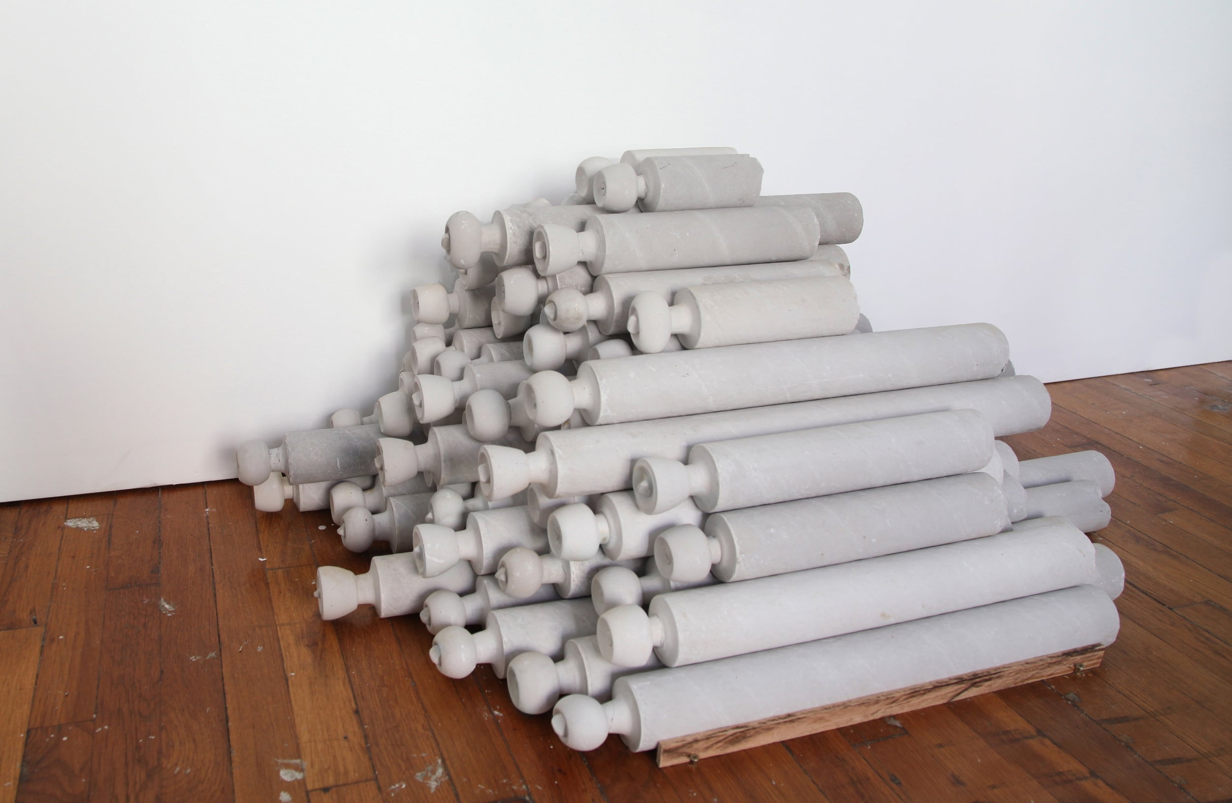 Untitled (knobs), 2013 plaster, 45 x 37 x 32 in
