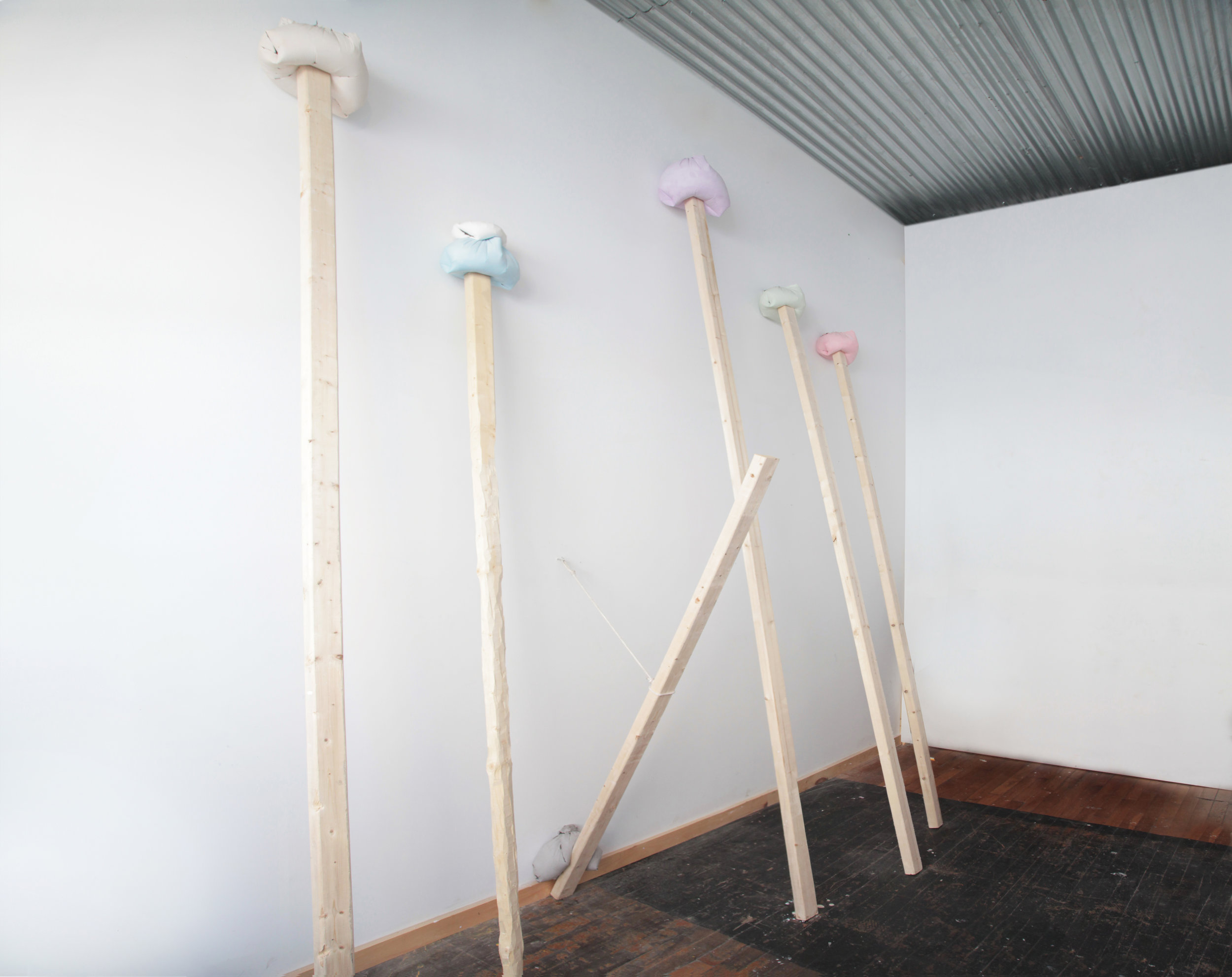 Untitled (detail), 2014 plaster, pigment, wood 31 x 96 x 144 in