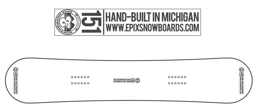 "Board Lock-up:   1"" x 4""     Board Lock-up Positions:   Nose, Tail & Center (avoiding stomp pad area)"