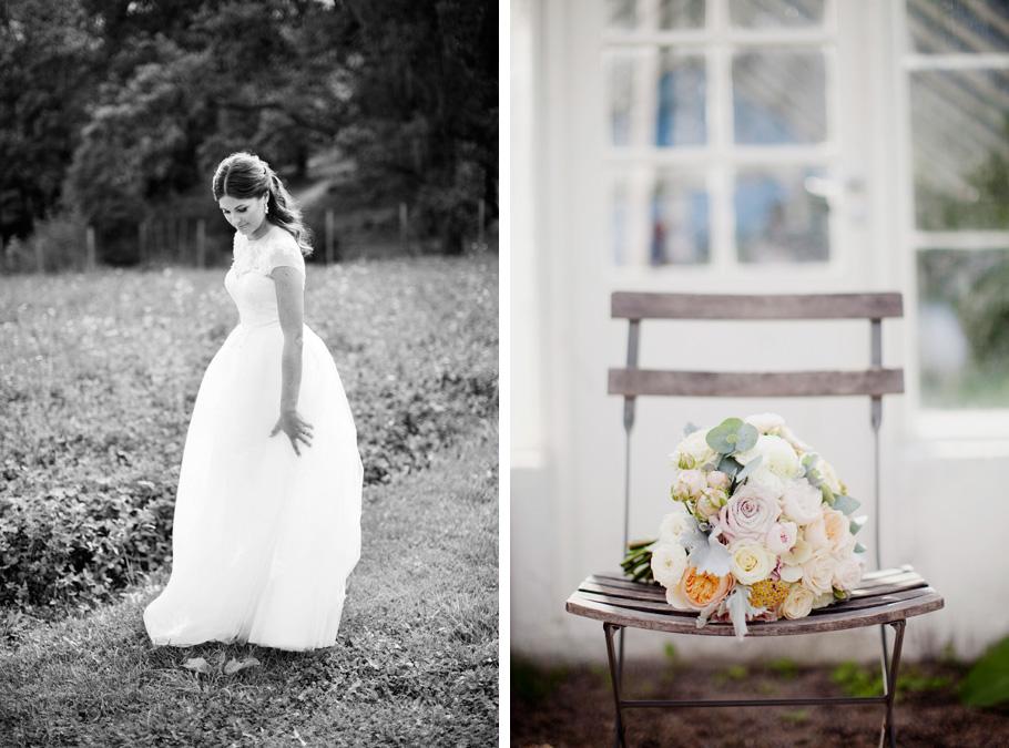 Jag älskar denna klänning som Sofie lät sy upp till sitt bröllop. När hon började sig ner för att krama sina syskonbarn så puffade den upp sig som en ballong... okej, det låter fult, men det var så snyggt och plufsigt härligt! /Jenny  PS jag fyller år idag, tihi!