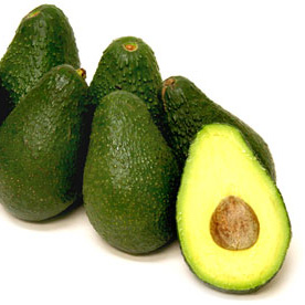 Pinkerton Avocado - is green with a medium-thick and pebbly skin. Signs of ripeness differ by variety, but all varieties yield to gentle pressure when ripe. (Softer for guacamole, more firm for slicing). To ripen an avocado, place it in a sealed plastic bag with a ripe banana at room temperature. Another method is to bury the avocado completely in a jar of flour. Do not refrigerate avocados until they are ripe.