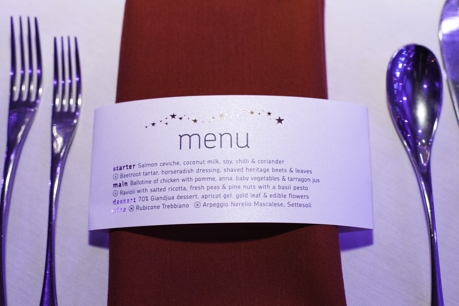 A first class menu of food was provided by the Troxy